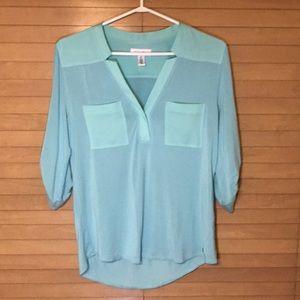 Blue Calvin Klein shirt